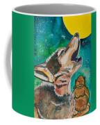 Buddha And The Divine Wolf No. 1370 Coffee Mug