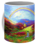 Buddha Chakra Rainbow Meditation Coffee Mug