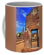 Buddha Doorway At Wat Worachetha Ram In Ayutthaya, Thailand Coffee Mug