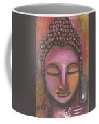 Buddha In Shades Of Purple Coffee Mug by Prerna Poojara