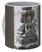 Buddha Statue At Temple - Swayambunat  Coffee Mug