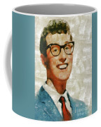 Buddy Holly By Mary Bassett Coffee Mug