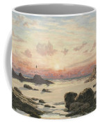 Bude Sands At Sunset Coffee Mug by John Brett