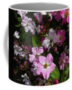 Buds And Petals- Pink Roses- Rose Bush- Floral Art Coffee Mug