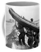 Buds Students Carry An Inflatable Boat Coffee Mug by Michael Wood