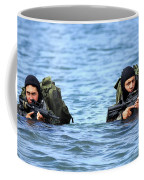 Buds Students Wade Ashore During An Coffee Mug