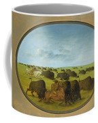 Buffalo Chase With Accidents Coffee Mug