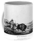 Buffalo Hunt, 1837 Coffee Mug