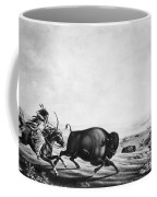 Buffalo Hunt, C1830 Coffee Mug