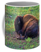 Buffalo In The Badlands Coffee Mug