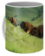 Buffalo On Hillside Coffee Mug