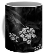 Bug On Flowers Black And White Coffee Mug