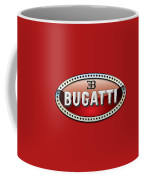 Bugatti - 3 D Badge On Red Coffee Mug