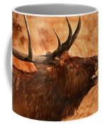 Bugling Bull Elk Autumn Background Coffee Mug