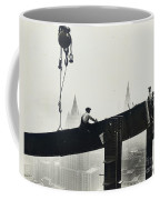 Building The Empire State Building Coffee Mug by LW Hine