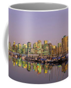 Buildings Lit Up At Dusk, Vancouver Coffee Mug