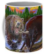 Bull And Bear Coffee Mug