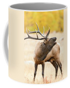 Bull Elk Bugling In The Fall Coffee Mug