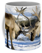Bull Elk Fighting  Coffee Mug