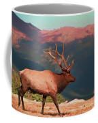 Bull Elk On Trail Ridge Road Coffee Mug