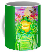 Bull Frog And The Moon Coffee Mug