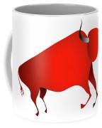 Bull Looks Like Cave Painting Coffee Mug by Michal Boubin