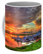 Bull River Marina Sunrise 2 Sunrise Art Coffee Mug