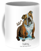 Bulldog Pop Art Coffee Mug
