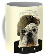 Bulldog Portrait, Animals In Clothes Coffee Mug