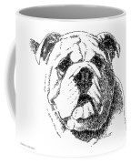 Bulldog-portrait-drawing Coffee Mug