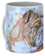Bulldog - Watercolor Portrait.7 Coffee Mug