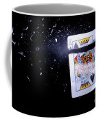 Bullet Hitting A Playing Card Coffee Mug