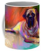 Bullmastiff Dog Painting Coffee Mug