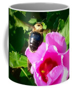 Bumble Bee Flying To Flower Coffee Mug