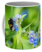 Bumble Bee On Siberian Bugloss Coffee Mug