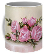 Bunch Of Pink Roses Painting Coffee Mug