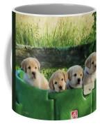 Bundles Of Joy - Labrador Art Coffee Mug by Jordan Blackstone