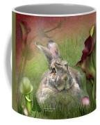 Bunny In The Lilies Coffee Mug