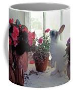 Bunny In Window Coffee Mug
