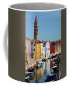 Burano An Island Of Multi Colored Homes On Canals North Of Venice Italy Coffee Mug