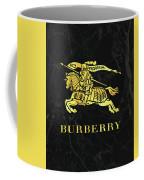 Burberry - Black And Gold - Lifestyle And Fashion Coffee Mug