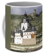 Burg Pfalzgrafenstein And Burg Gutenfals Squared Coffee Mug
