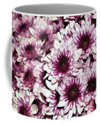 Burgundy White Crysanthemums Coffee Mug