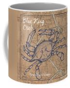 Burlap Blue Crab Coffee Mug