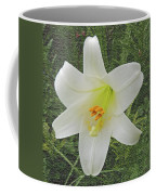 Burlap Textured Easter Lily Coffee Mug