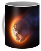 Burning Asteroid Entering The Atmoshere Coffee Mug