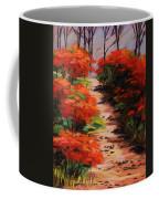 Burning Bush Along The Lane Coffee Mug