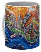 Burning City Coffee Mug
