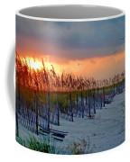 Burning Grasses And The Fence Coffee Mug