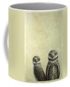 Burrowing Owls Coffee Mug by James W Johnson